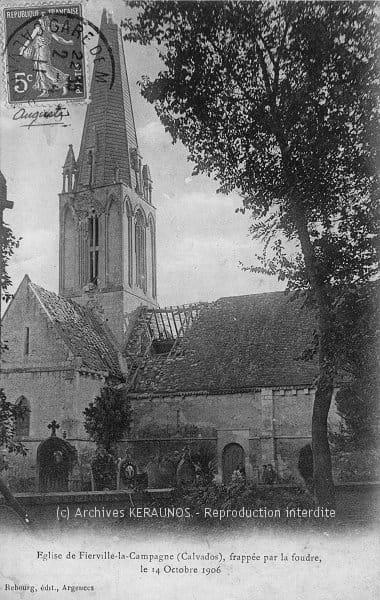 SAINT-CHRISTOPHE-DU-LIGNERON (Vendée) - Eglise construite par Madame de Mauclerc en 1846, détruite par la foudre le 16 janvier 1913