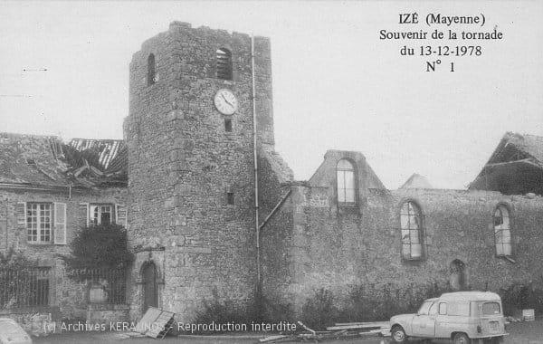 IZE (Mayenne) - Souvenir de la tornade du 13 décembre 1978