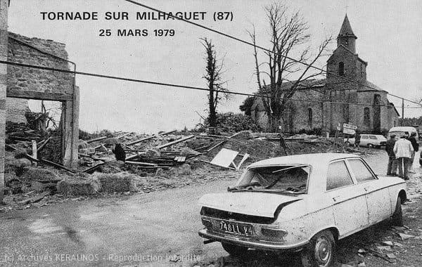MARVAL (Haute-Vienne) - Les dégâts suite à la tornade du 25 mars 1979